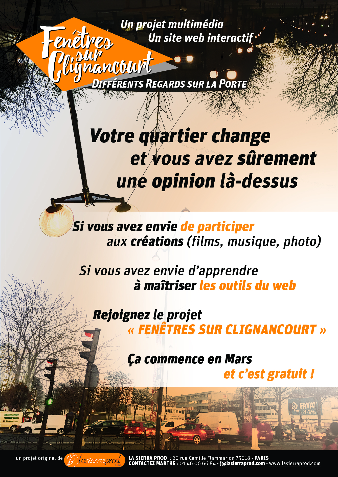 """Nouveau projet audiovisuel """"Fenêtres sur Clignancourt"""""""