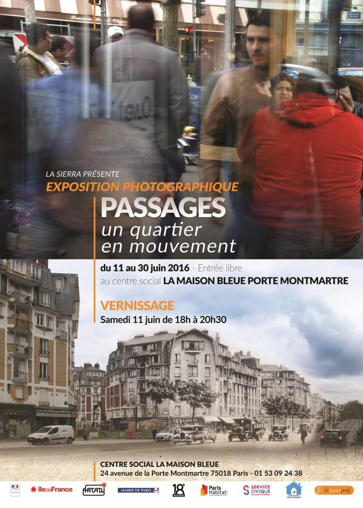 """Exposition photographique """"Passages. Un quartier en mouvement"""" du 11 au 30 juin 2016"""