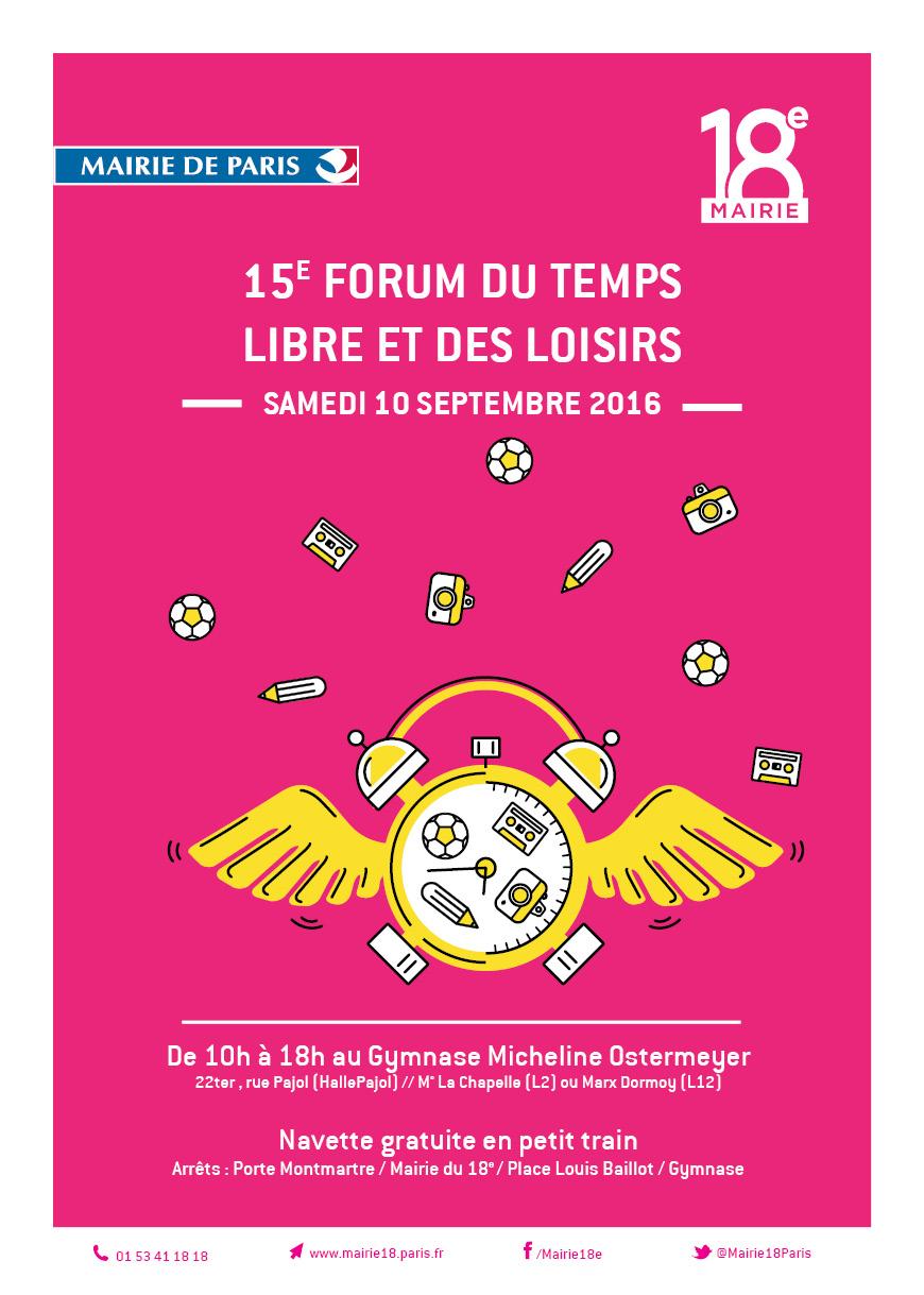 Forum des associations du 18e, samedi 10 septembre 2016