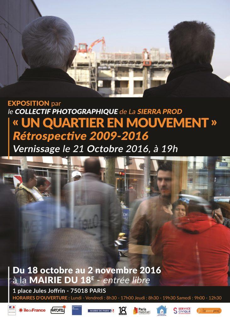 Exposition photo à la Mairie du 18e - 18 octobre au 2 novembre 2016