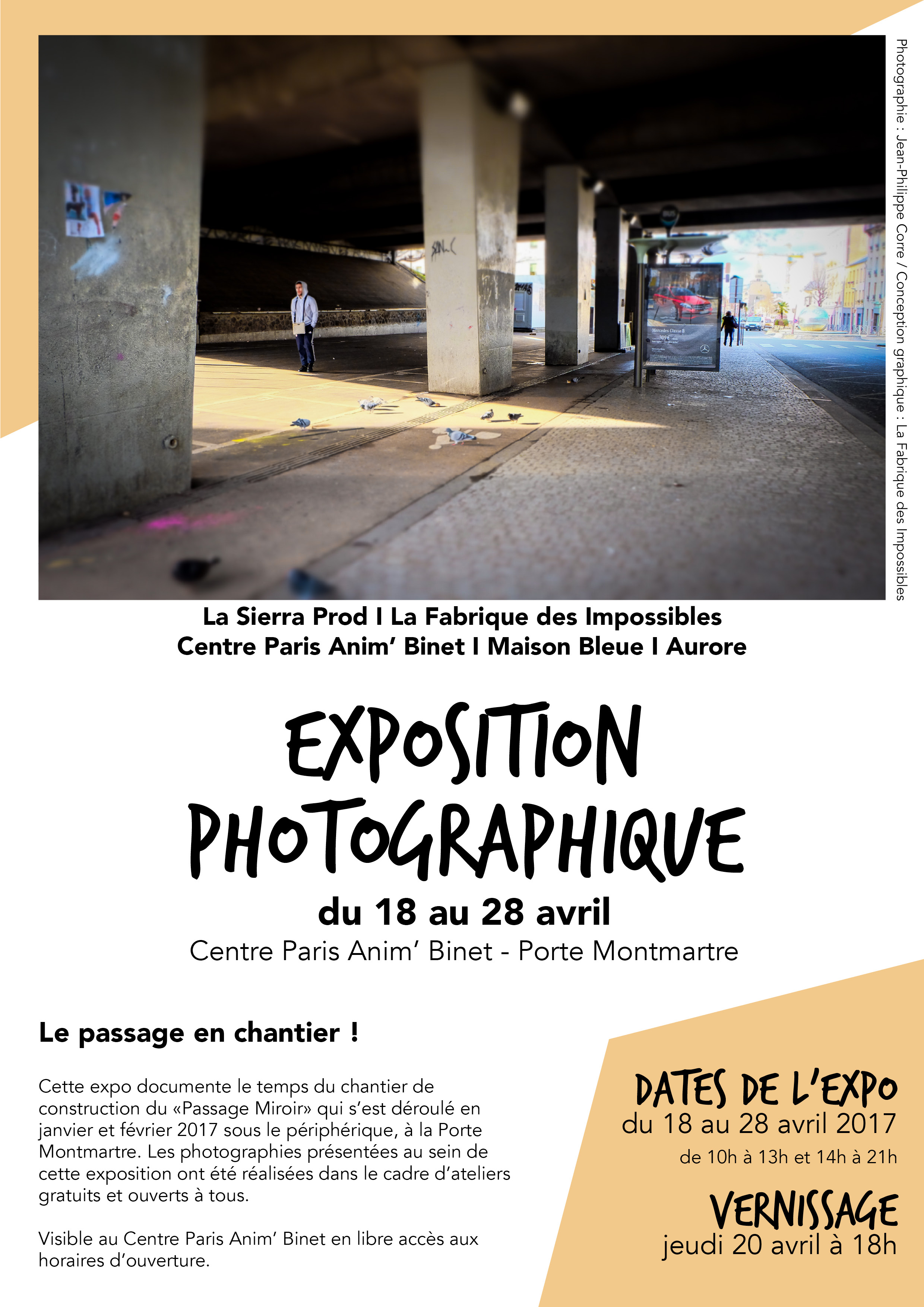 "Exposition photo ""Le passage en chantier"" avec la Fabrique des Impossibles avril 2017"