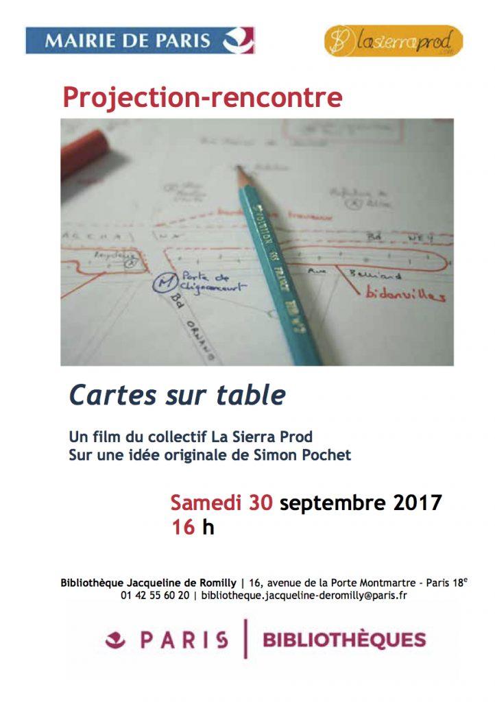 Projection-rencontre :  Cartes sur table